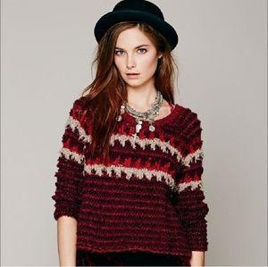 Free People Fuzzy Fair Isle Sweater